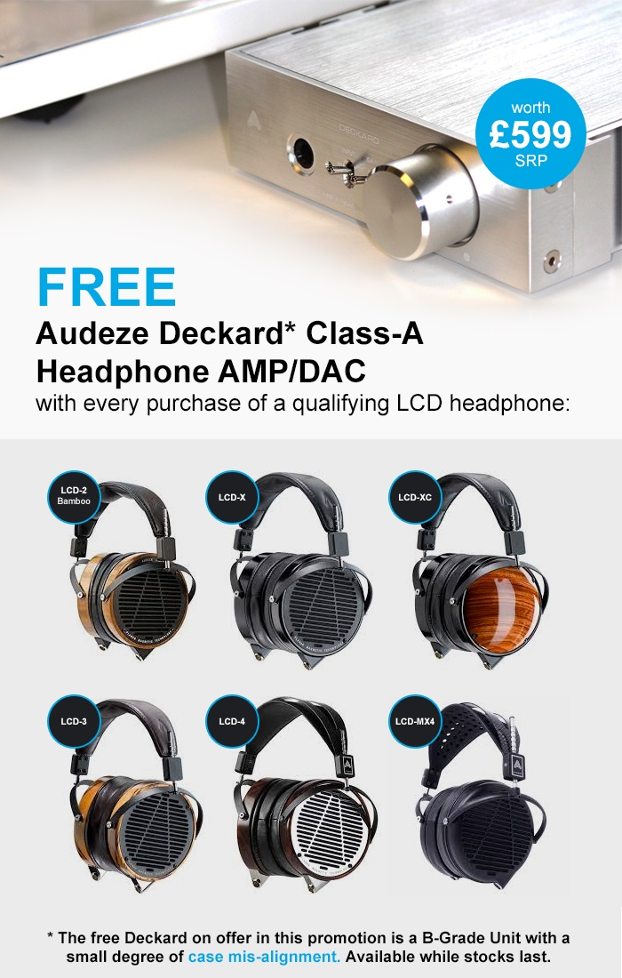 Free Audeze Deckard with every purchase of qualifying LCD Headphones